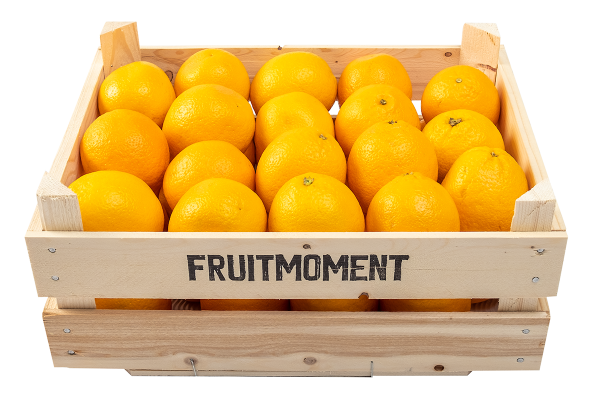 Fruitmoment krat met 36 sinaasappels