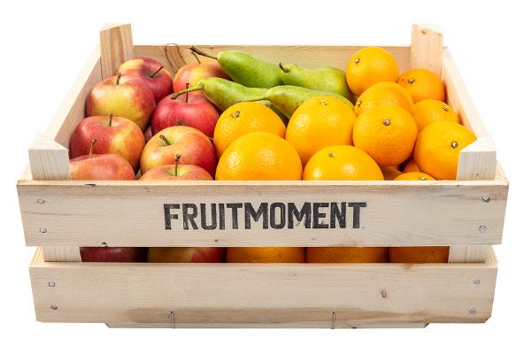 Hoge Fruitmoment krat met gemengde fruit